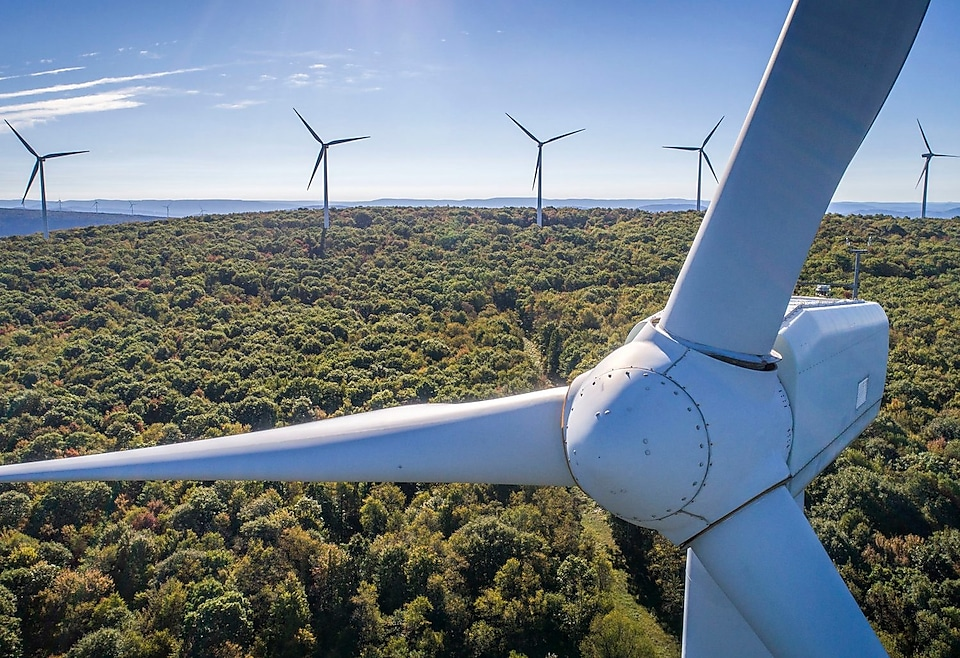 Birds Eye View at Mount Storm Wind Turbine