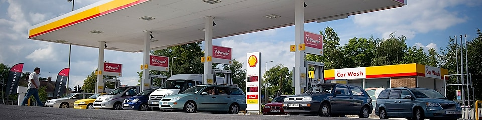 Shell station forecourt