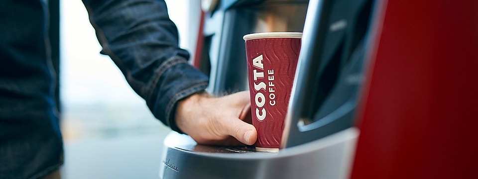 Image of a Costa Express Coffee cup