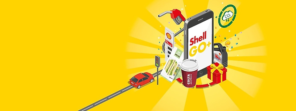 Shell Go+ yellow banner
