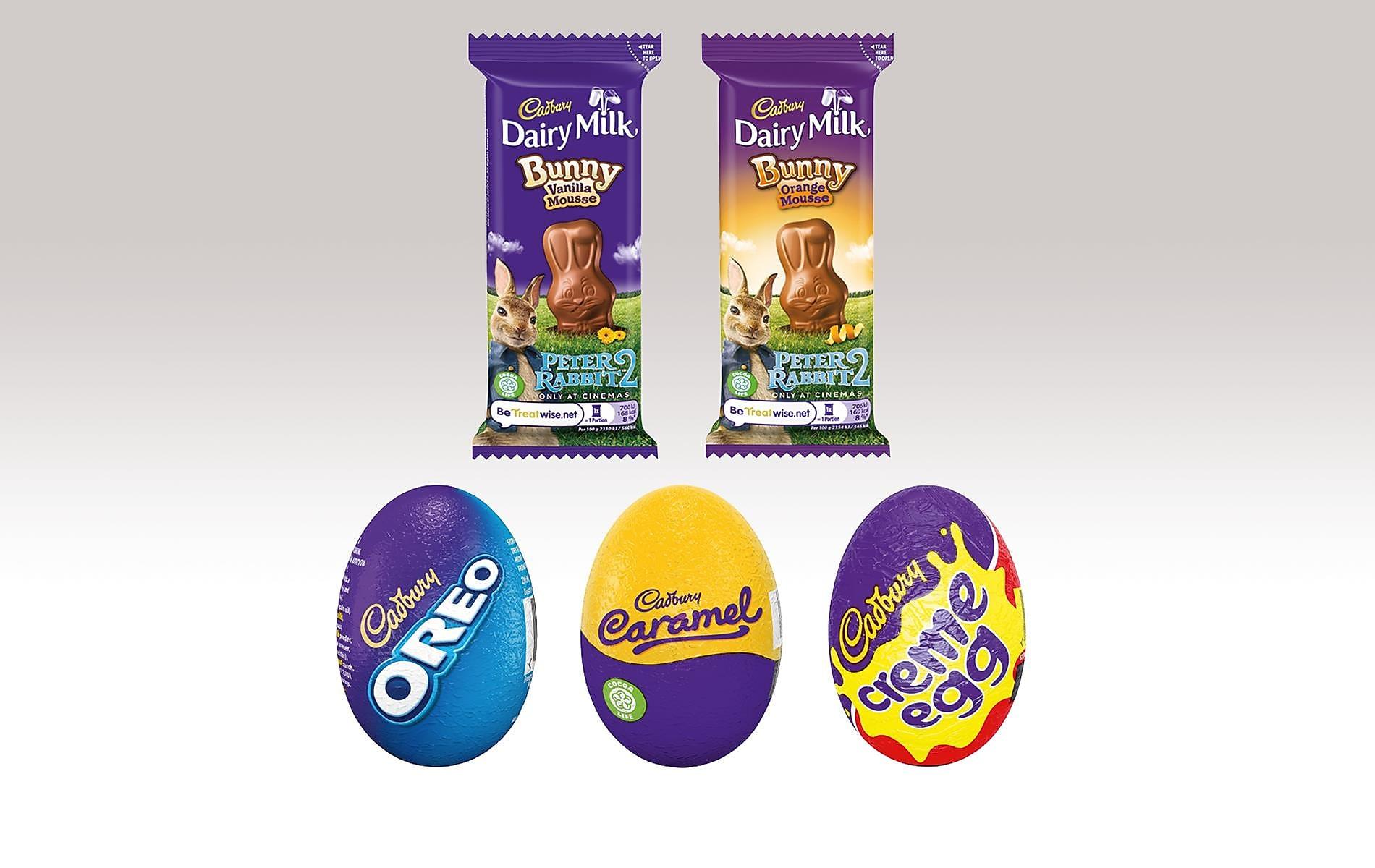 Cadbury Easter Eggs & Bunnies - Any 2 for £1.20