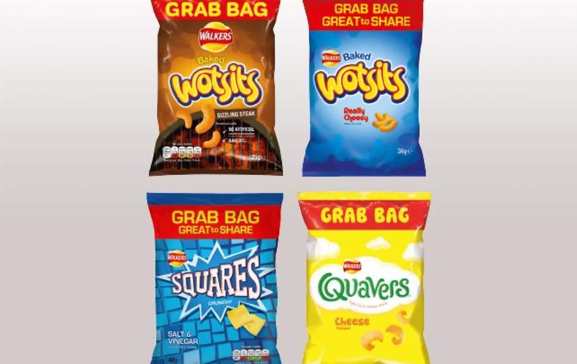 Walkers Grab Bags 2 for £2.50