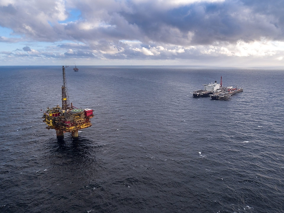Pioneering Spirit in the Brent field