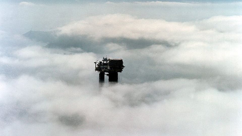 Brent Bravo viewed through the clouds of Norway (1975)