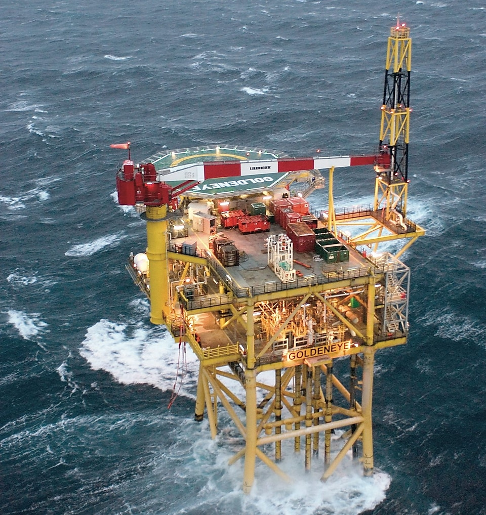 Goldeneye is located in the Central North Sea, in the United Kingdom Continental Shelf